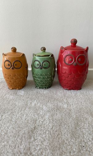 Owl Kitchen Canisters for Sale in Chevy Chase, DC