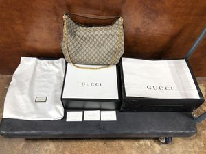 Authentic Gucci Linea A Large GG Hobo Bag for Sale in Dallas, TX