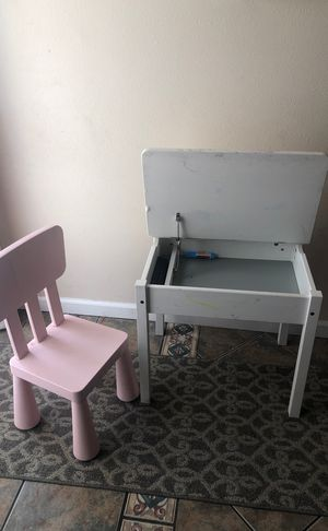 Kids IKEA Desk and Chair for Sale in Montclair, CA