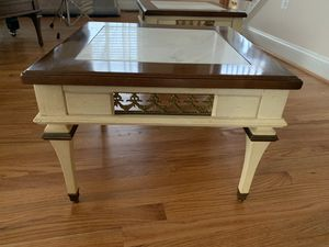 Set of two solid marble top tables for Sale in Aspen Hill, MD