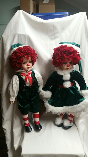 Seymour Mann Doll Collection Holiday Raggedy Ann and Andy Dolls for Sale in Ladson, SC