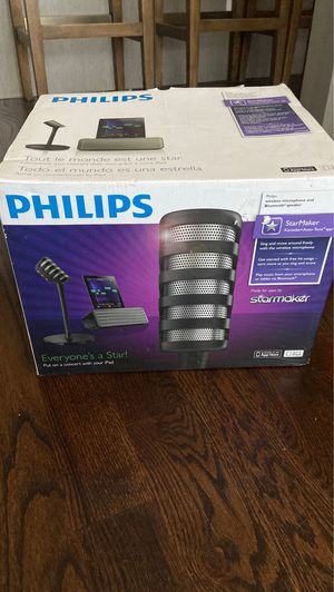 philips karaoke wireless microphone and bluetooth speaker for Sale in Chicago, IL