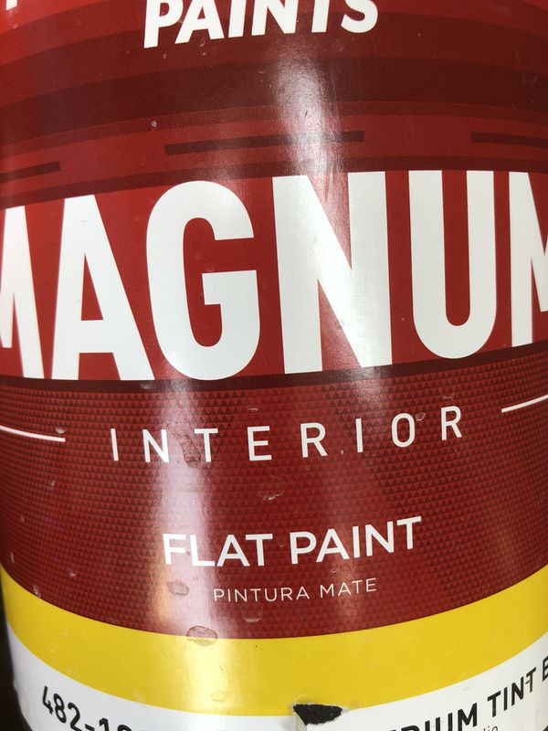 Magnum interior paint. One gallon. Flat