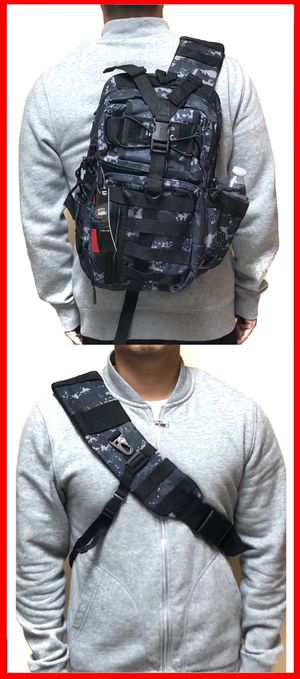 NEW! Camouflage Tactical Military Style Backpack Sling Side Crossbody Bag gym bag work bag travel luggage school bag molle camping hiking biking for Sale in Carson, CA
