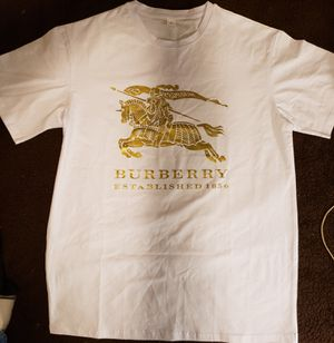 Brand New Burberry White Stretch Cotton Tee Shirt Size XL for Sale in Evans City, PA