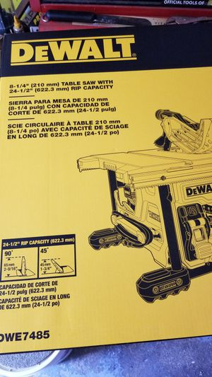 Dewalt table saw in box for Sale in Canton, MA