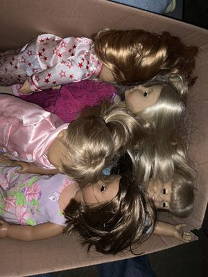 6 american girl dolls for Sale in Monterey Park, CA
