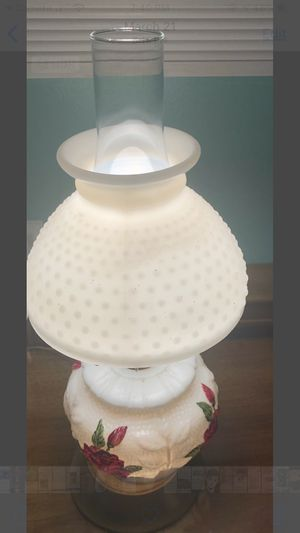 Vintage lamp has a rose on Vance ! Very pretty ! for Sale in Nitro, WV