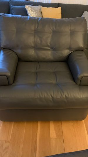 Grey leather chair for Sale in Boston, MA