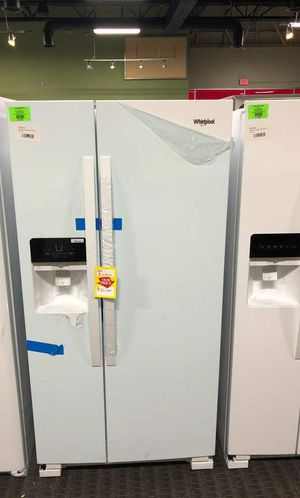 Brand New Whirlpool Side by Side Refrigerator White (Model:WRS331SDHW) 2H for Sale in Haltom City, TX