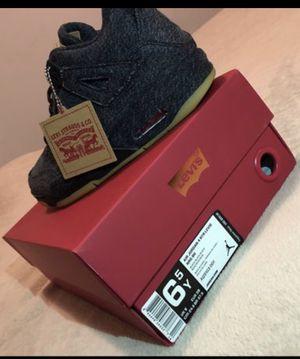 Jordan 4 retro Levi's black size 6.5 Y for Sale in Santa Monica, CA