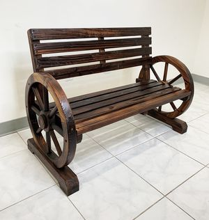 "New $80 Wooden 41"" Wagon Bench Rustic Wheel for Patio Garden Outdoor 41x20x30"" for Sale in El Monte, CA"