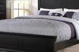 Black Queen Sleigh Bed for Sale in Los Angeles,  CA