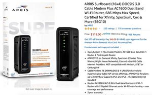 Artist SBG10 WiFi Router, AC1600 for Sale in San Francisco, CA