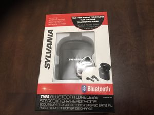Sylvania SEB602 in-Ear Bluetooth True Wire-Free Earbuds Microphone never used for Sale in Miami, FL