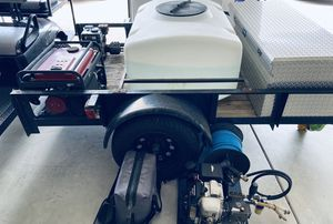 Start it up new business complete and new pressure washer trailer fresh and storage bin spotless for Sale in Chula Vista, CA