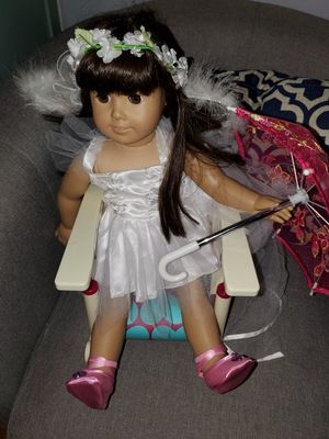 American Girl Doll With Costume & Chair for Sale in Hampton, VA