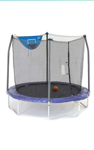 Brand new 8ft trampoline with basketball hoop for Sale in Salem, OR