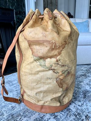 Italian Leather Large Duffel Bag by Alviero Martini for Sale in Alexandria, VA