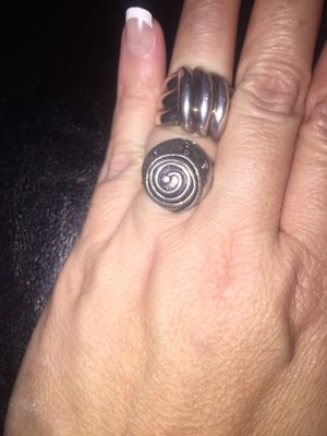 2 Large vintage rare sterling silver rings 925 both for $30 for Sale in Miami, FL