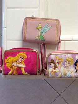 Princesses, Aurora, Tinkerbell Wallets $5 each for Sale in Irvine,  CA