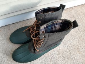 Green plaid and wool rain boots size 11 for Sale in Nashville, TN