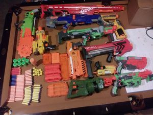 Nerf gun lot with mags and ammo for Sale in Tracy, CA