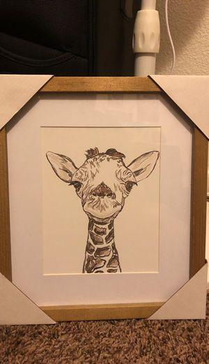 Giraffe picture frame for Sale in Dinuba, CA