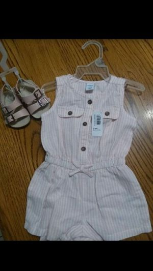 NEW Baby Romper and Sandals Set for Sale in Phoenix, AZ