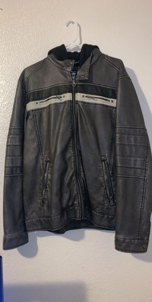 Leather jacket(hard edge brown) for Sale in Parlier, CA