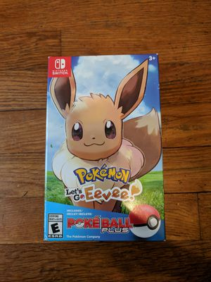 NEW: Pokemon: Let's Go Eevee! Poke Ball Plus Bundle - Nintendo Switch for Sale in Bexley, OH