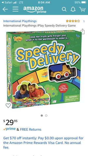 Speedy delivery board game toddler preschool for Sale in Wellington, FL