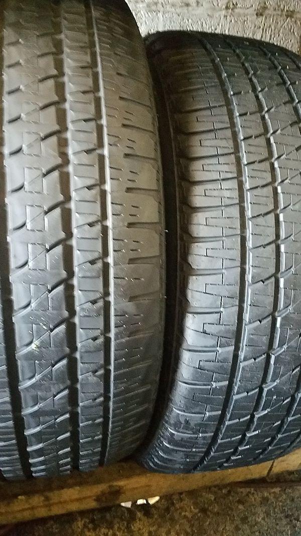 two good Bridgestone tires for sale 285/45/22
