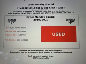Weekday timberline tickets for Sale in Portland, OR