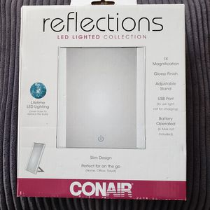 Conair Reflections Makeup Mirror LED Lighted Collection 1X Slim On The Go for Sale in Orlando, FL