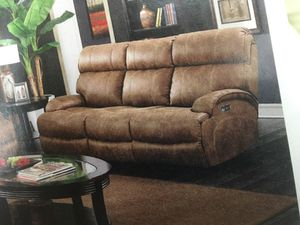 Power Reclining Leather Sofa for Sale in Hermitage, PA