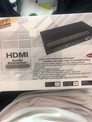 HDMI Audio Extractor / 3 port HDR HDMI for Sale in Pomona, CA
