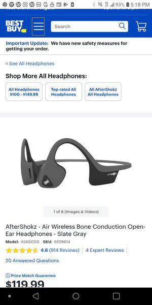 AfterShokz - Air Wireless Bone Conduction Open-Ear Headphones - Slate Gray For beats for Sale in Seattle, WA