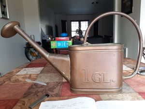 Vintage oval copper watering can embossed for Sale in Martinsburg, WV