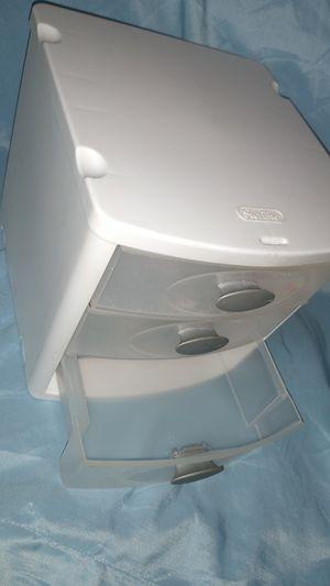 Set of 3 small plastic Sterilite drawers for Sale in Zephyrhills, FL