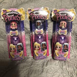 Hatchimals mini pixies (3pc) bundle for Sale in Algonquin, IL
