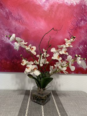 Large fake orchid flower plant for Sale in Oakland, CA