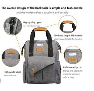 Diaper Bag Backpack Multi-Function Baby Bags for Dad and Mom with Stroller Straps,Changing Pad and Laundry Bag   New for Sale in Silver Spring, MD