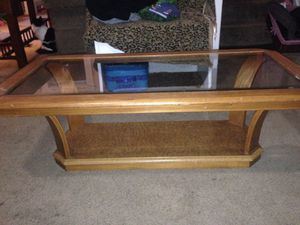 Glass top coffee table for Sale in Fort Wayne, IN
