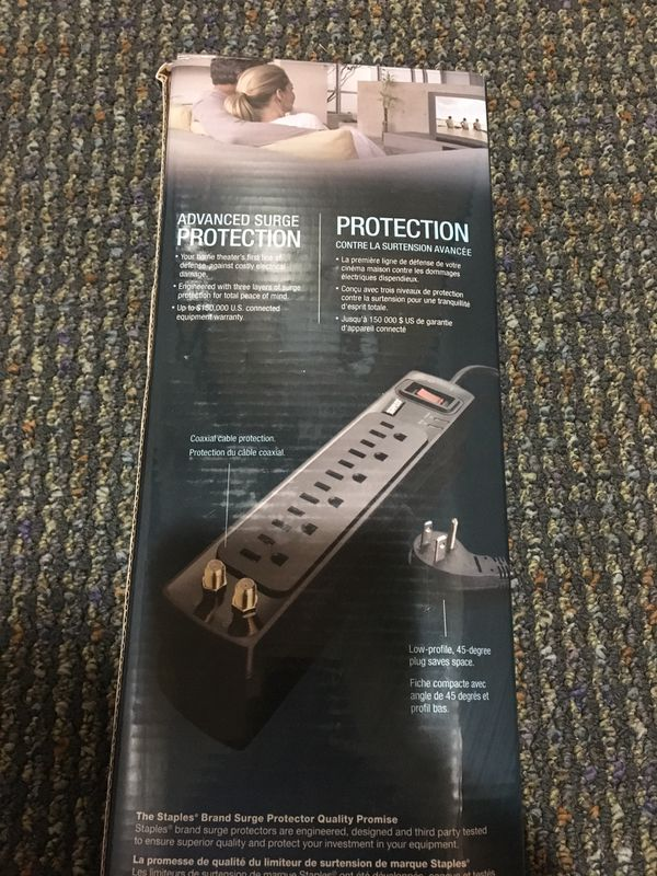Staples Home Theater surge protector