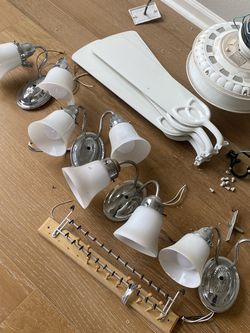 Working Light Fixtures ,white Fan, Knobs $50 Everything for Sale in Irvine,  CA