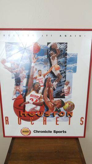 Vintage Houston Rockets Finals Plaque Basketball for Sale in Winter Park, FL