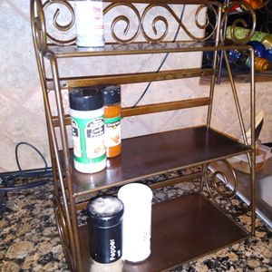 Metal kitchen countertop 3 shelf rack $10 16 inches tall x 12 inches long x 6 inches wide for Sale in Missouri City, TX