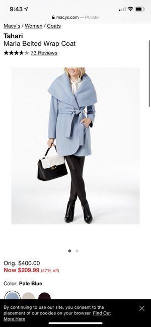 Tahari blue wrap jacket size medium pale blue wool for Sale in San Diego, CA