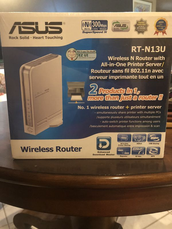 ASUS Wireless N Router w/ All-in-one Printer Server - Brand New!